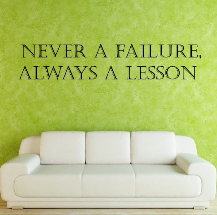 never a failure