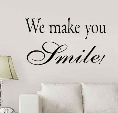 we make you smile copy